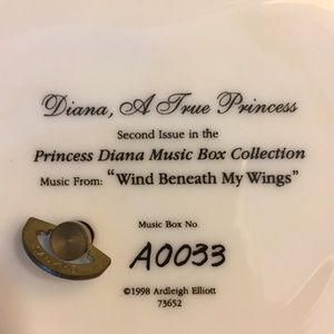 Vintage Accents - Princess Diana Collectible Music Box